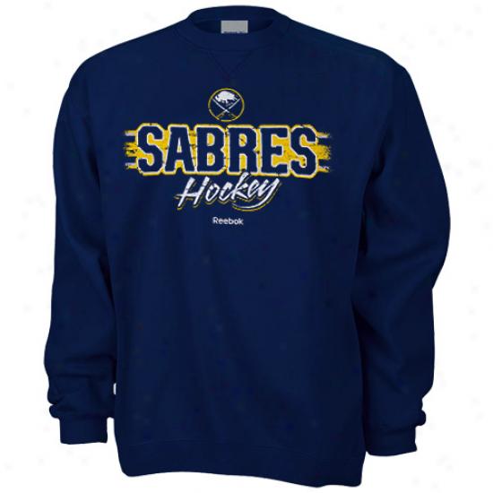 Buffalo Sabre Stuff: Reebok Buffalo Cavalry sword Navy Blue Allegiance Sweatshirt