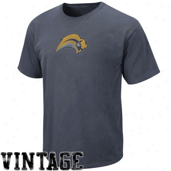Buffalo Sabre T-shirt : Majestix Buffalo Sabre Navy Blue Cooperstown Big Time Play Vintage T-shirt