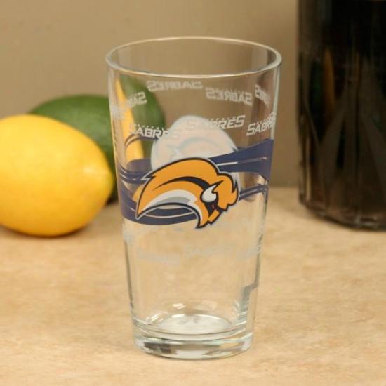 Buffalo Sabres 16oz. Satin Etch Pint Glass