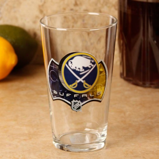 Buffalo Sabbres 17 Oz. Enhanced Hi-def Mixing Glass
