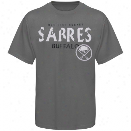 Buffalo Sabres Apparel: Old Time Hockey Buffalo Sabres Charcoal St. Croix T-shirt