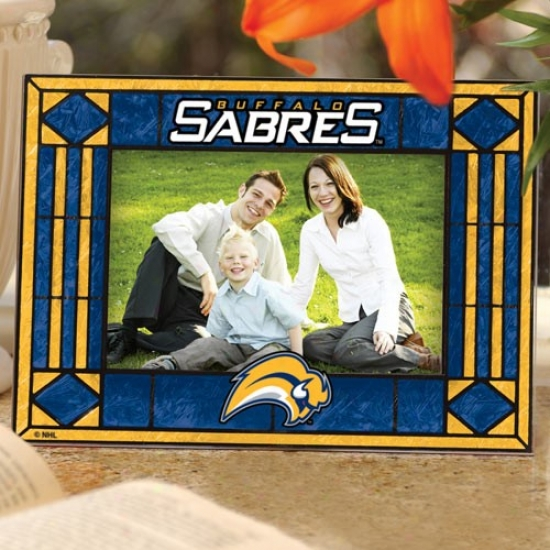 Buffalo Sabres Art-glass Horizontal Picture Frame