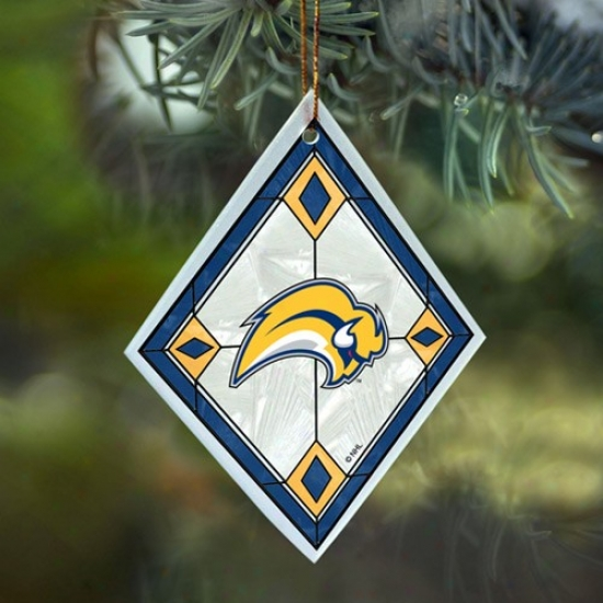 Buffalo Sabres Art-glass Ornament