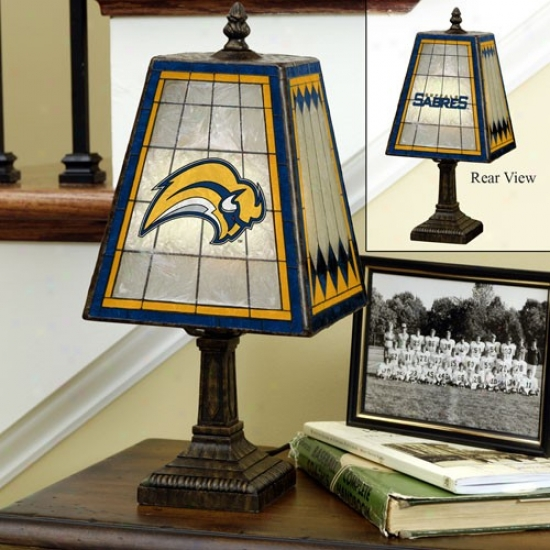 Buffalo Sabres Art-glass Table Lamp