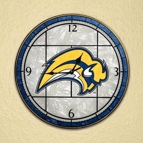 Buffalo Sabres Art-glass Wall Clock