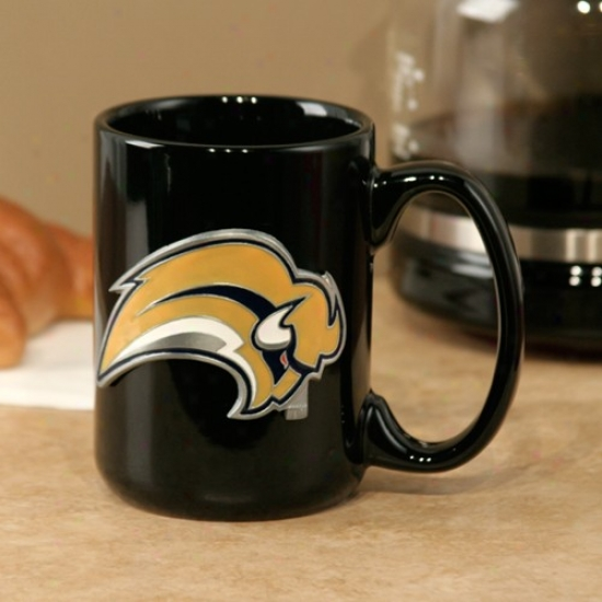 Buffalo Sabres Black 15oz. Pewter Logo Ceramic Mug