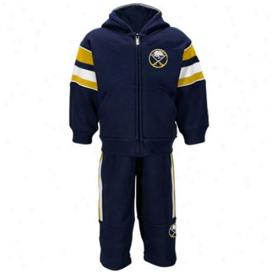 Buffalo Sabres Fleece : Reebok Buffalo Sabres Toddler Ships Blue Full Zip Fleece Jacket And Sweatpants Set