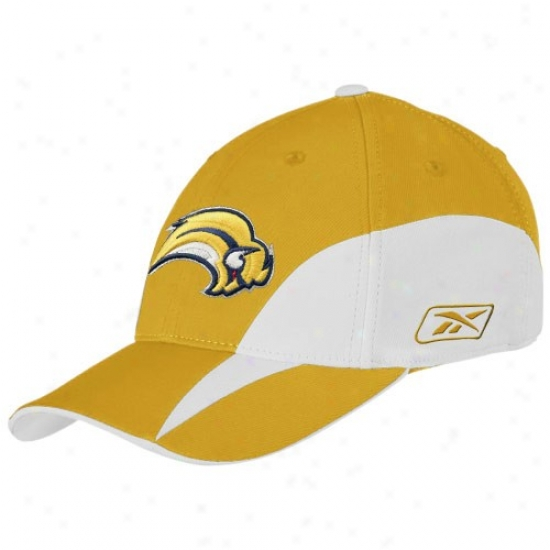 Buffalo Sabres Rigging: Reebok Buffalo Sabres Gold Boy Practice Course Fit Hat