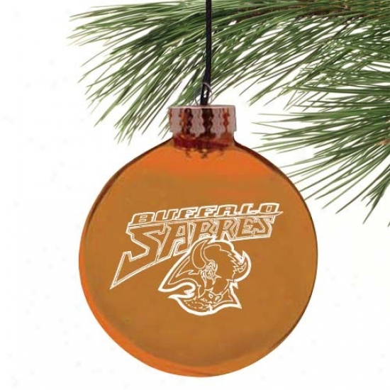 Buffalo Sabres Gold Etched Laser Light Ornament