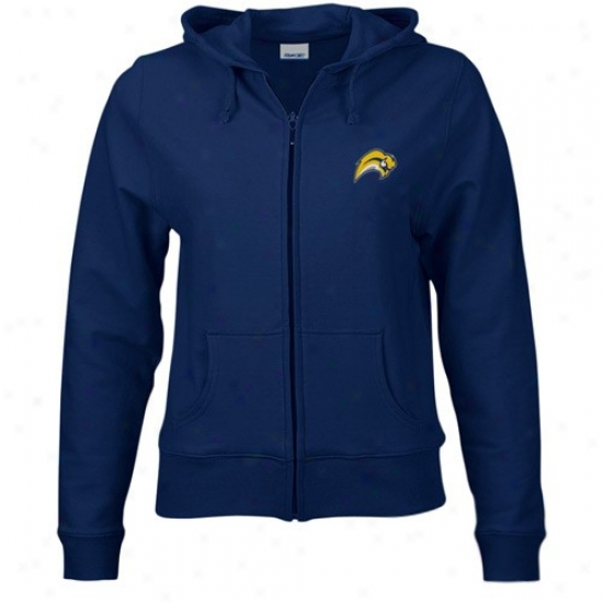 Buffalo Sabres Hoodys : Reebok Buffalo Sabres Ladies Navy Blur Authentic Full Zip Hoodys Jadket