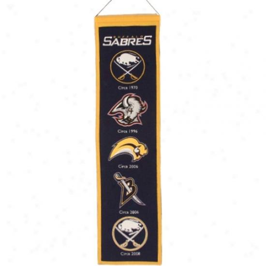 Buffalo Sabres Navy Blue Heritage Banner