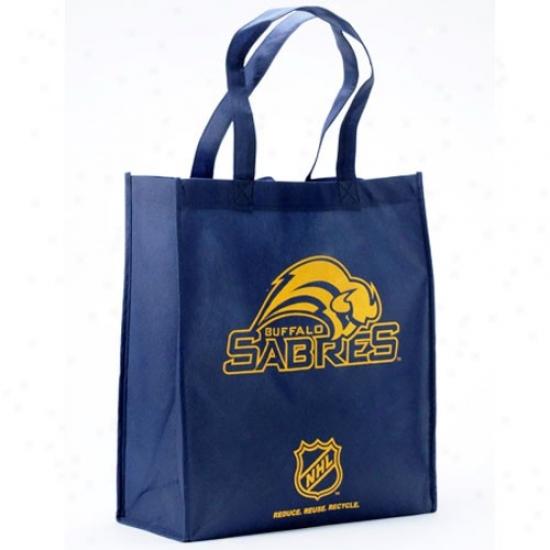 Buffalo Sabres Navy Blue Reusable Tote Bag