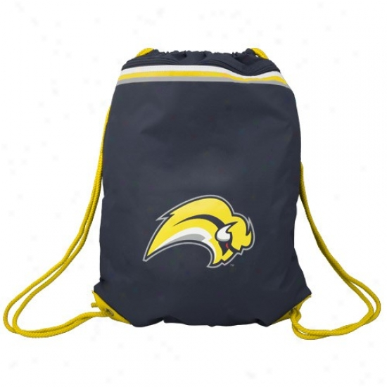 Buffalo Sabres Navy Blue Team Logo Drawstring Backpack