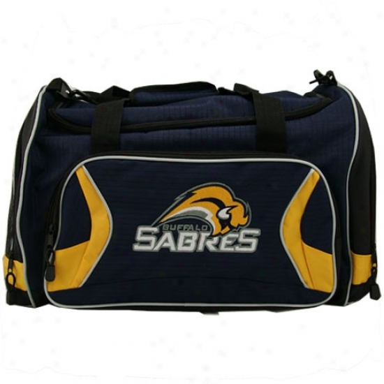 Buffalo Sabres Navy Blue Team Logo Duffle Bag