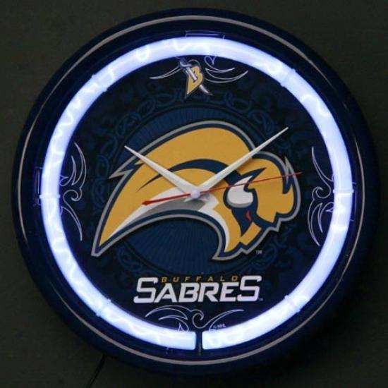 Buffalo Sabres Plasma Wall Clock