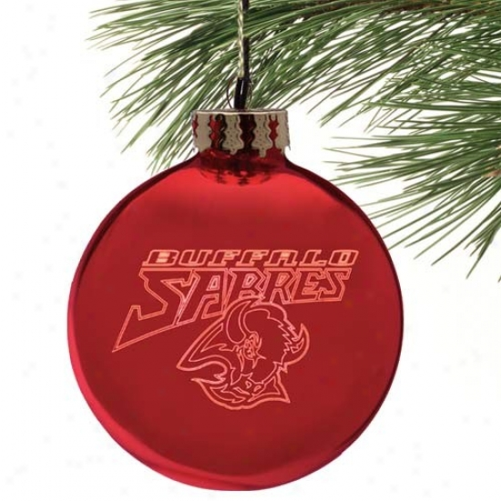 Buffalo Sabres Red Etched Laser Light Decorate