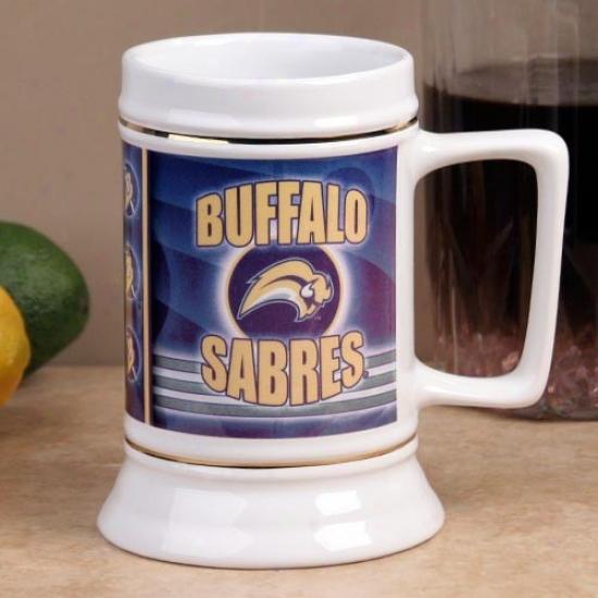 Buffalo Sabres Slapshot 28oz. Ceramic Stein