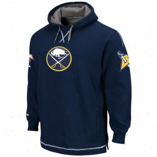 Buffalo Sabrres Sweat Shirts : Majestic Buffalo Sabres Navy Blue The Liberation Pullover Sweat Shirts