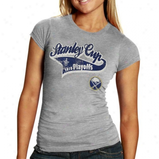 Buffalo Sabres Tees : Old Time Hockey Buffalo Sabres Ladies Ash Vivian 2010 Stanley Cup Playoffs Tees