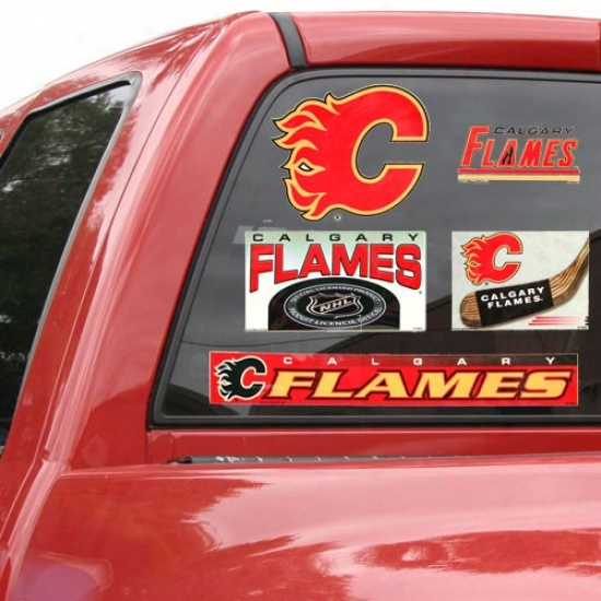 Calgary Flames 11'' X 17''_Window Clings Sheet