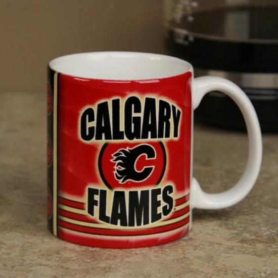 Calgary Flames 11oz. Slapshot Coffee Mug