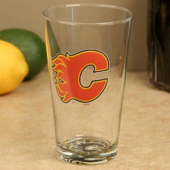 Calgary Flames 17 Oz. Bottoms Up Moixng Glass