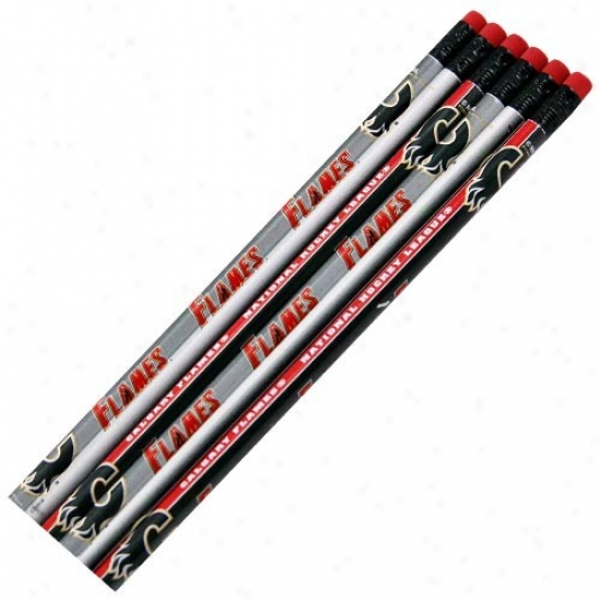 Calgary Flames 6-pack Team Logo Pencil Set