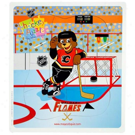 Cwlgary Flames Hockey Puzzle