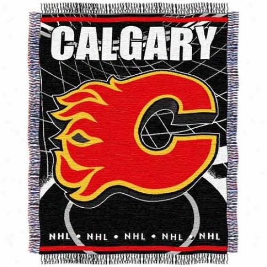 Calgary Flames Jacquard Woven Blanket Throw