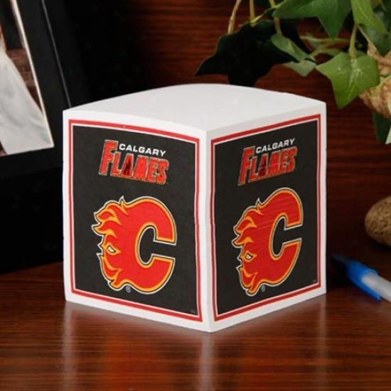 Calgary Flames Note Cube