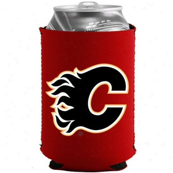 Calgary Flames Red Collapsible Can Coolie