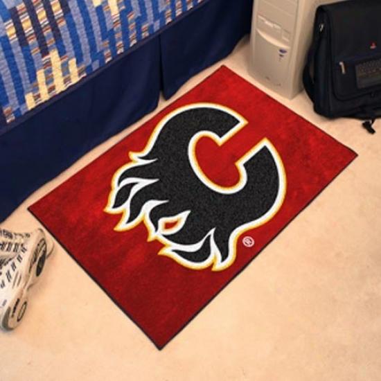 Calgary Flames Red Logo Starter Mat