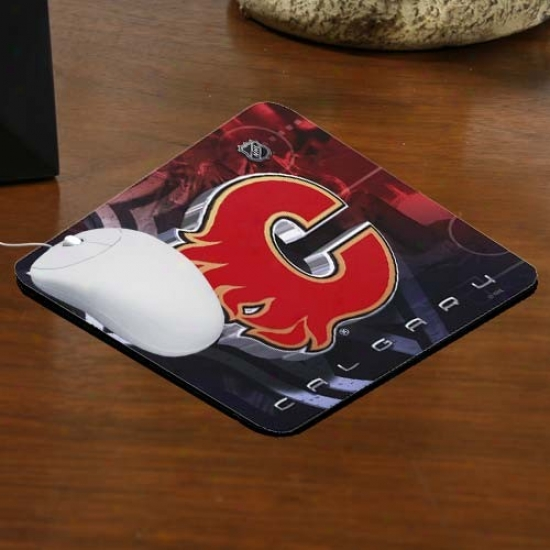 Calgary Flames Team Logo Neoprene Mousepad