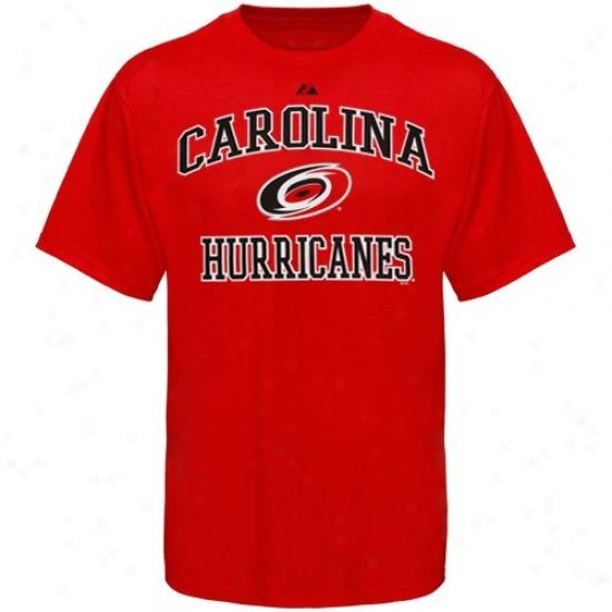 Carolina Hurricane Dress: Carolina Hurricane Red Heart & Soul T-shirt