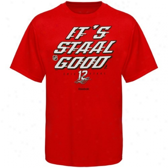 Carolina Hurricane Attire: Reebok Carolina Hurricane #12 Eric Staal Red Staal oGod T-shirt