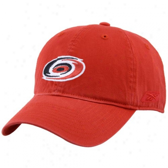 Carolina Hurricane Hats : Reebok Carolina Hurricane Red Unstructured Clownish gait Hats