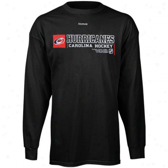 Carolina Hurricane Shirts : Reebok Carolina Hurricane Dismal Call Sign Long Sleeve Shirtq