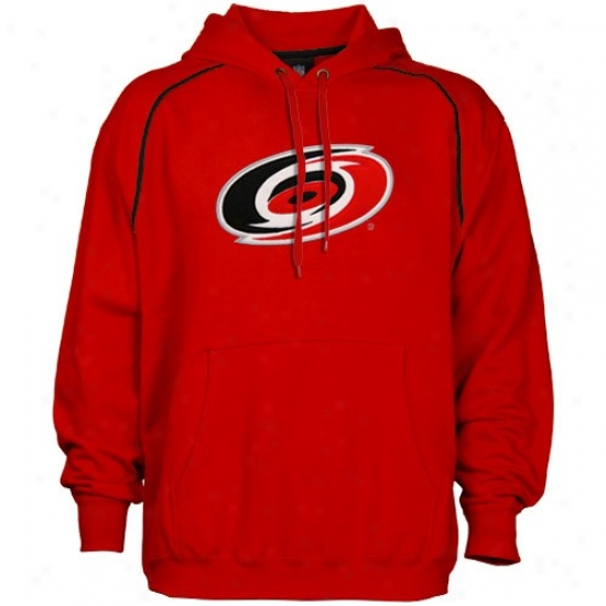 Carolina Hurricane Stuff: Majestic Carolina Hurricane Red Fear & Trembling Hoody Sweatshirt