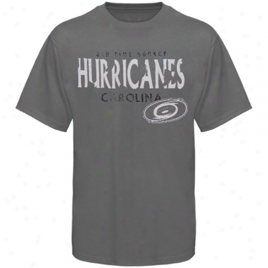 Carolina Hurricane Tshirt : Old Time Hockey Carolina Hurricane Charcoal St Croix Tshirt