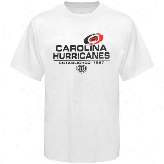 Carolina Hurricane Tshirts : Aged Time Hockey Carolina Hurricane White Zeno Tshirts