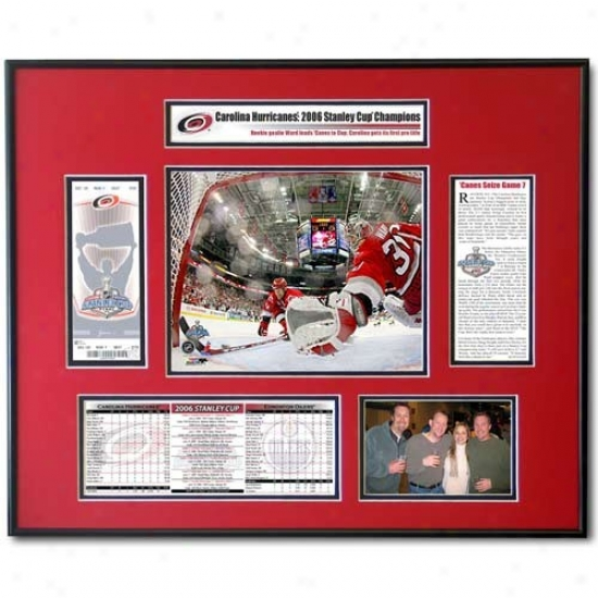 Carolina Hurricanes 2006 Stanley Cup Cam Ward Ticket Frame