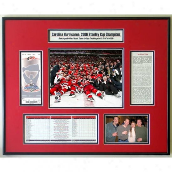 Carolina Hurricanes 2006 Stanley Cup Honor Ticket Frame