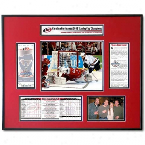 Carolina Hurricanes 2006 Stanley Cup Mvp Cam Ward Ticket Frame