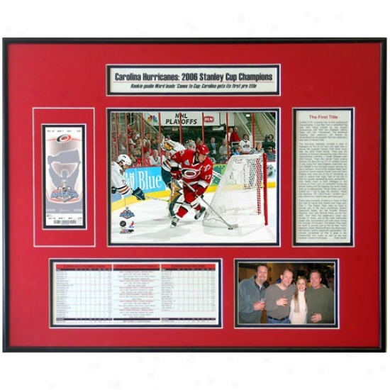 Carolina Hyericanes 2006 Stanley Cup Ticket Frame