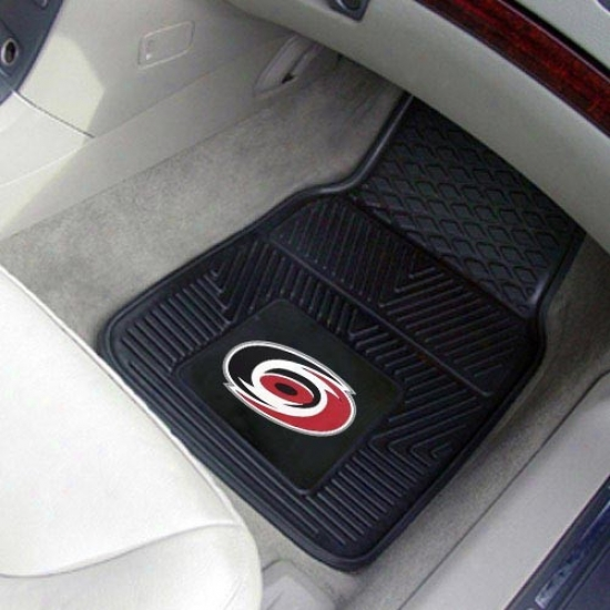Carolina Hurricanes Black 2-piece Vin6l Car Mat Set