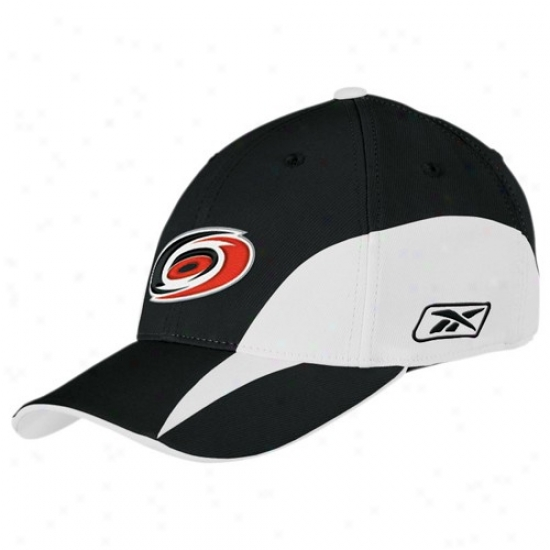 Carolina Hurricanes Gear: Reebok Carolina Hurricanes Black Practice Stretch Fit Hat