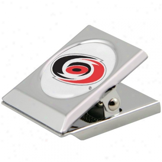 Carolina Hurricanes Silver Heavy-duty Magnetic Chip Clip