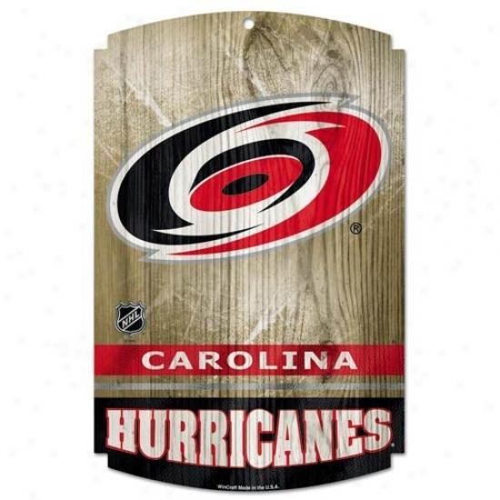 Carolina Hurricanes Wood Sign