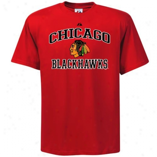 Cnicago Black Hawks Attire: Majestic Chicago Black Hawks Youth Rd Heart & Soul Ii T-shirt
