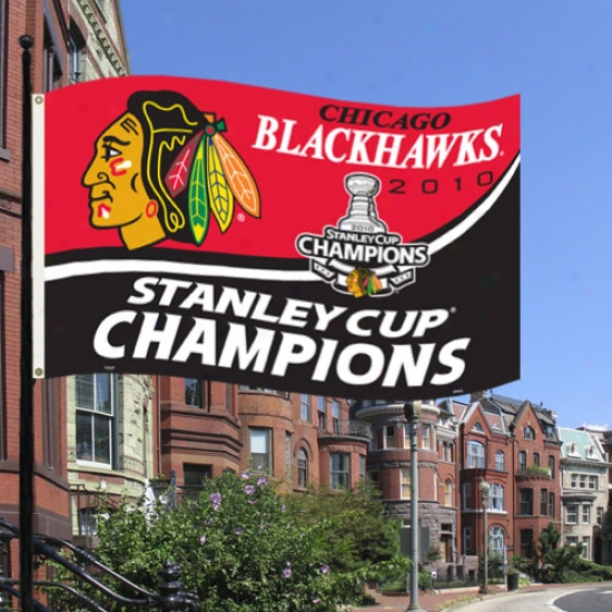 Chicago Mourning Hawks Flags : Chicago Black Hawks 2010 Nhl Stanley Cup Champions 3' X 5' Flags